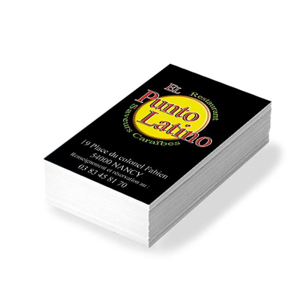 Création Carte de visite El Punto Latino
