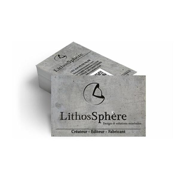 Création Carte de visite LithosSphère